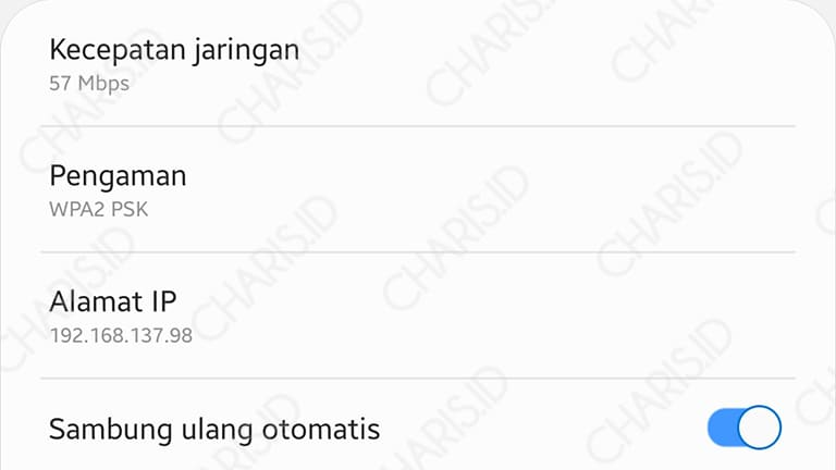 cara cek ip address android
