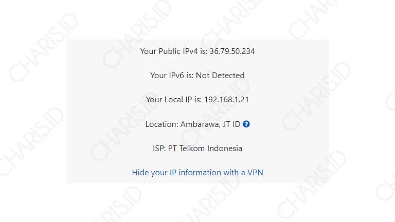 cara mengetahui ip address online