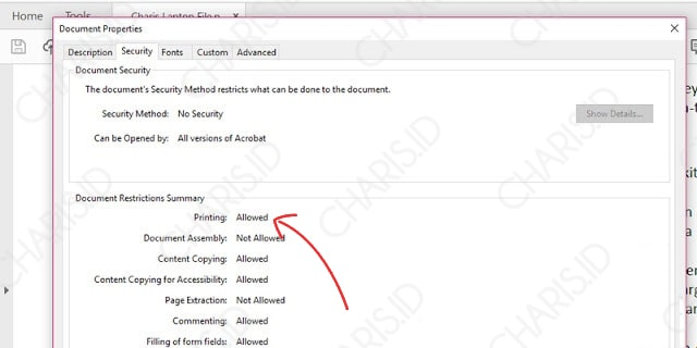 Print PDF yang Tidak Bisa di Print