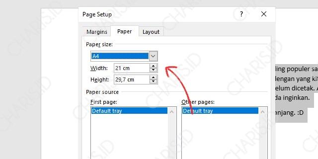 Mengubah Ukuran Kertas Microsoft Word