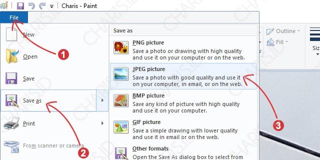 Save Paint Memperbesar Ukuran Jpg