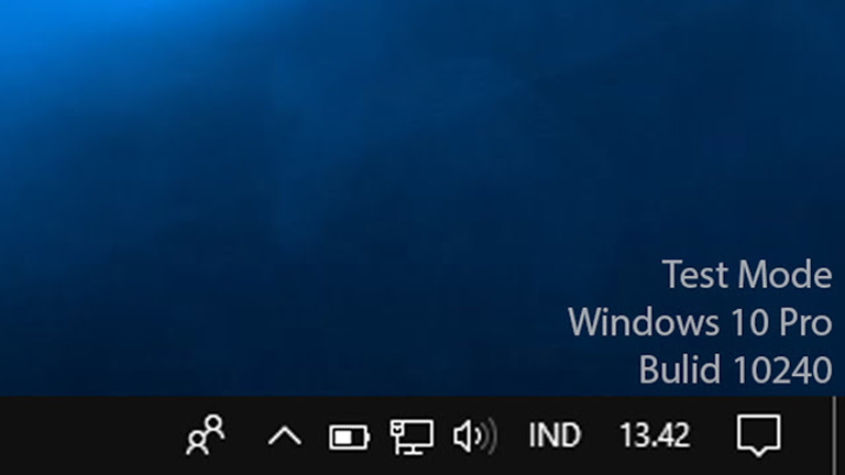 Test Mode Windows 10