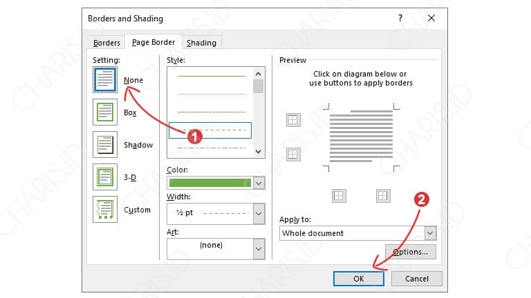 Cara Menghapus Bingkai Microsoft Word