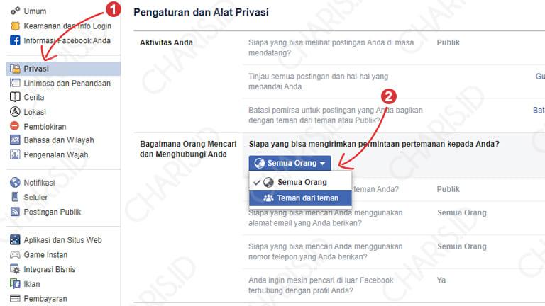 Cara Menghilangkan Tombol Tambahkan Teman Facebook