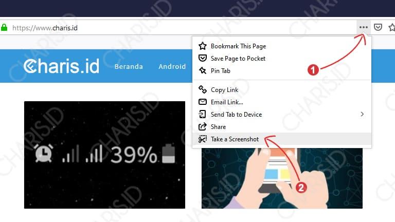 Screenshot Panjang Mozilla Firefox