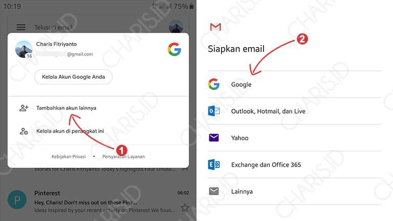 Tambah Gmail Android