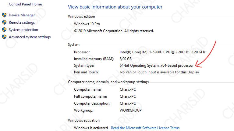cara cek bit laptop