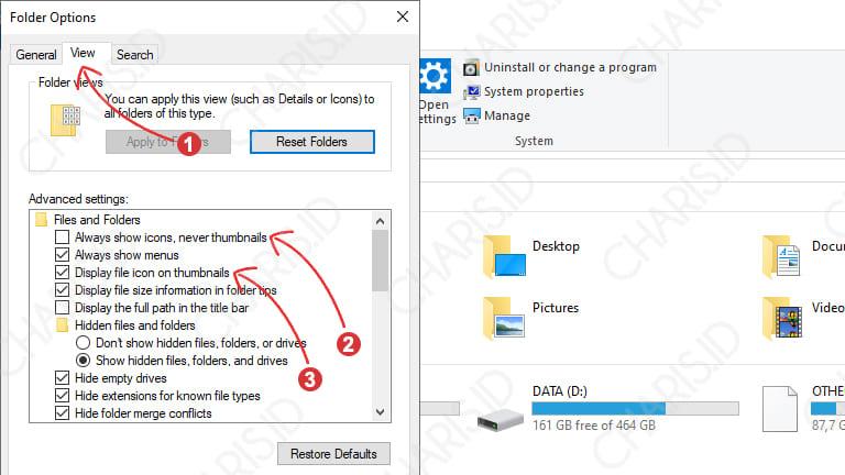 cara mengatasi thumbnail tidak muncul di windows
