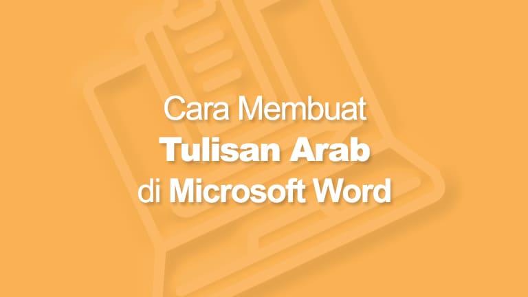 Cara Menulis Arab