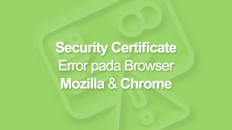 Security Certificate Error