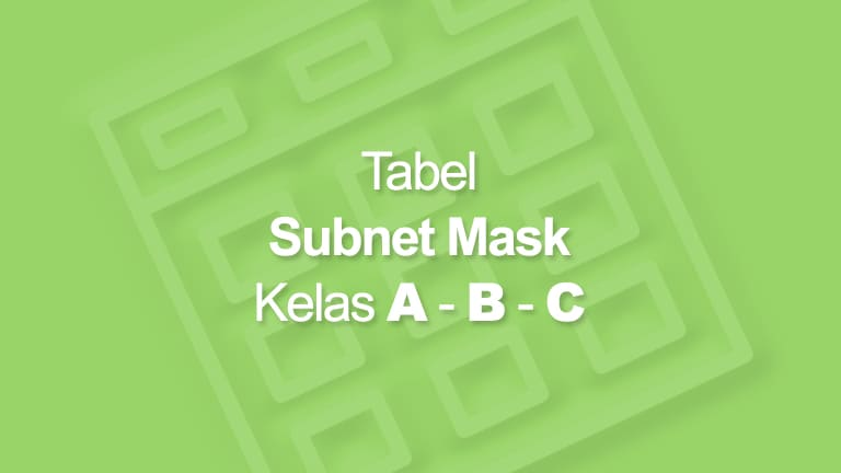 Tabel Subnet Mask