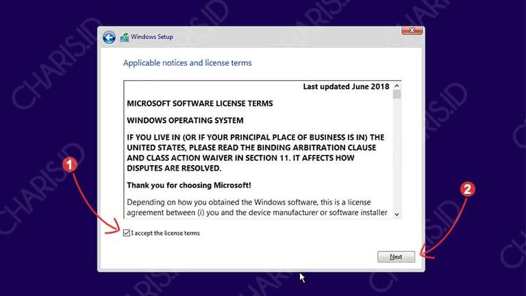 cara install ulang windows 10 dengan dvd