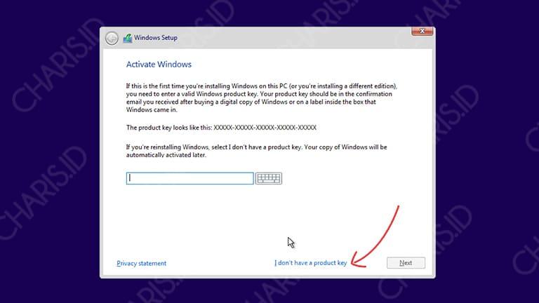 cara install windows 10 tanpa cd