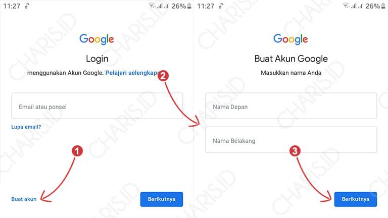 cara membuat gmail baru di hp