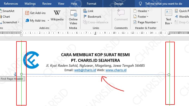 cara membuat kop surat dengan ms word