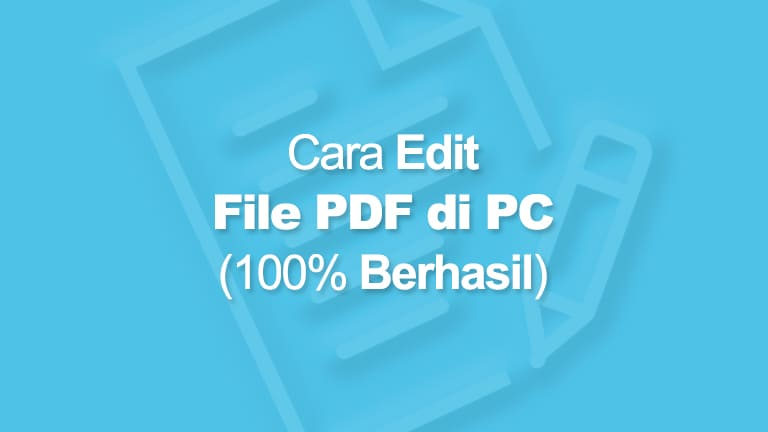Cara Mengedit PDF