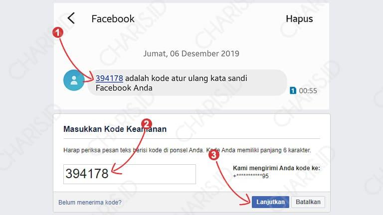 cara masuk facebook dengan kata sandi lama