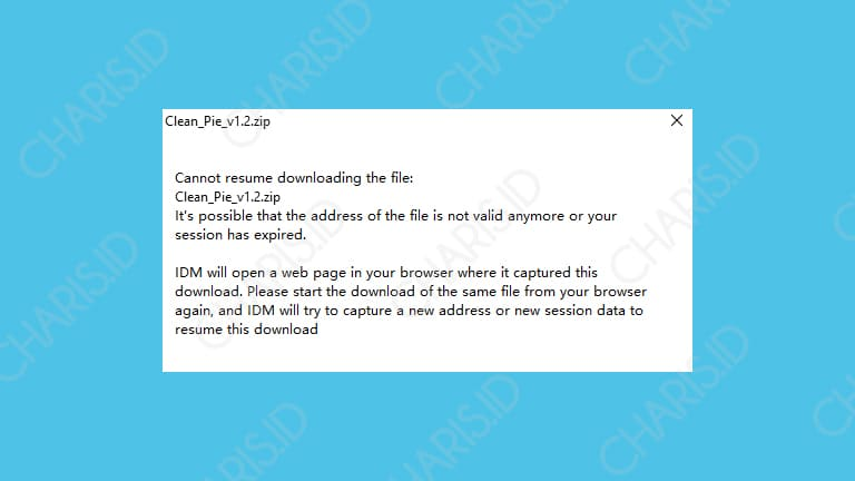 cara melanjutkan download di idm