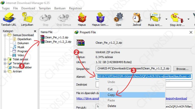 cara melanjutkan download idm yang gagal