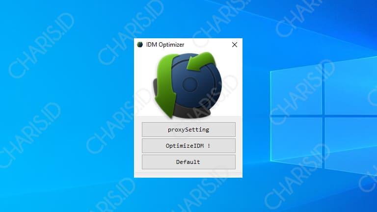cara mempercepat download idm dengan optimizer