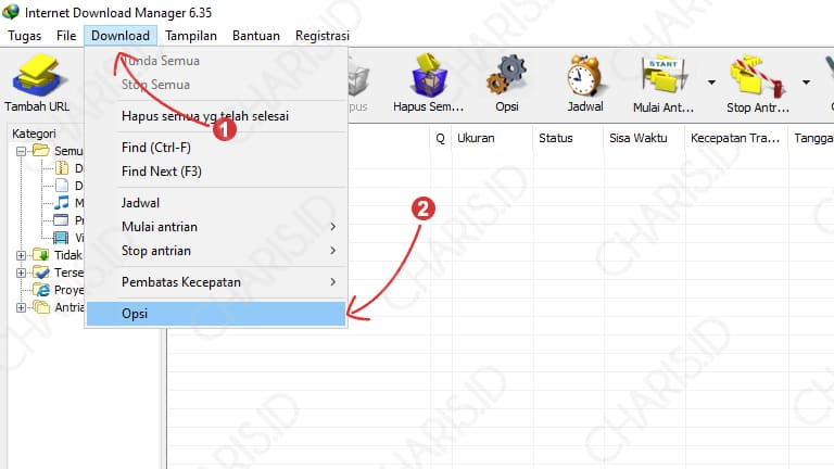 cara mempercepat internet download manager