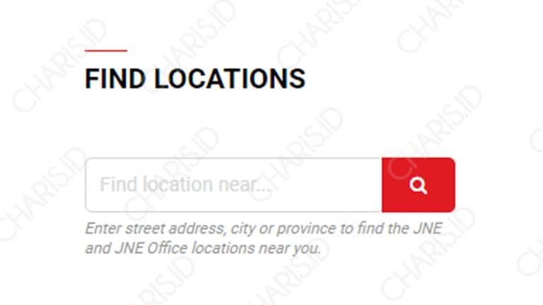 cara mencari alamat kantor jne terdekat