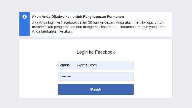 cara menghapus akun facebook permanen di pc