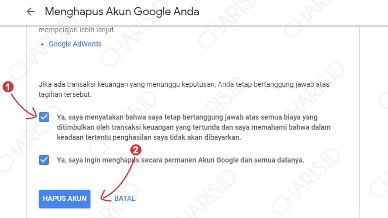 cara menghapus akun gmail di android