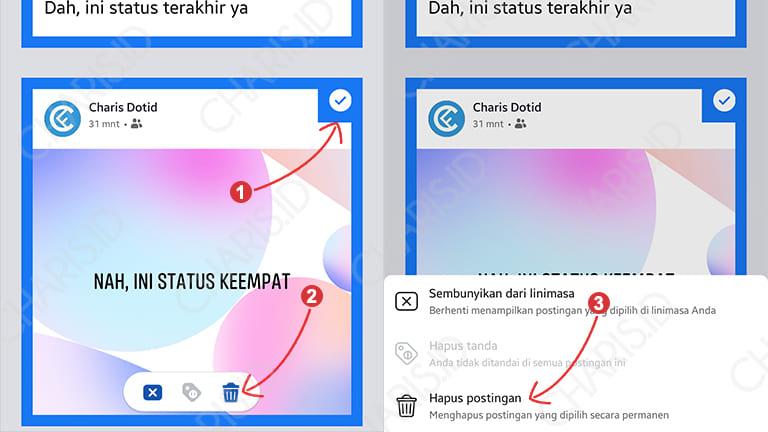 cara menghapus status facebook sekaligus