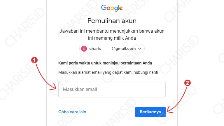 cara reset akun gmail