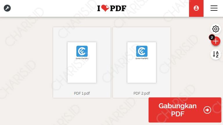menggabungkan file pdf online