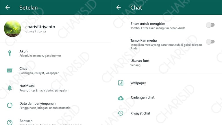 Cara Ganti Background WhatsApp