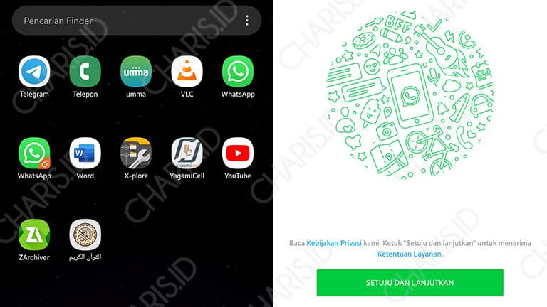 cara install 2 whatsapp di android