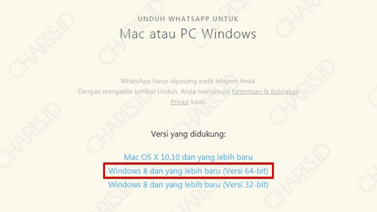 cara membuka whatsapp di windows 7