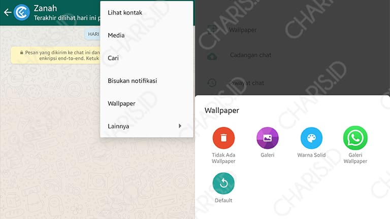 cara mengganti wallpaper chat whatsapp