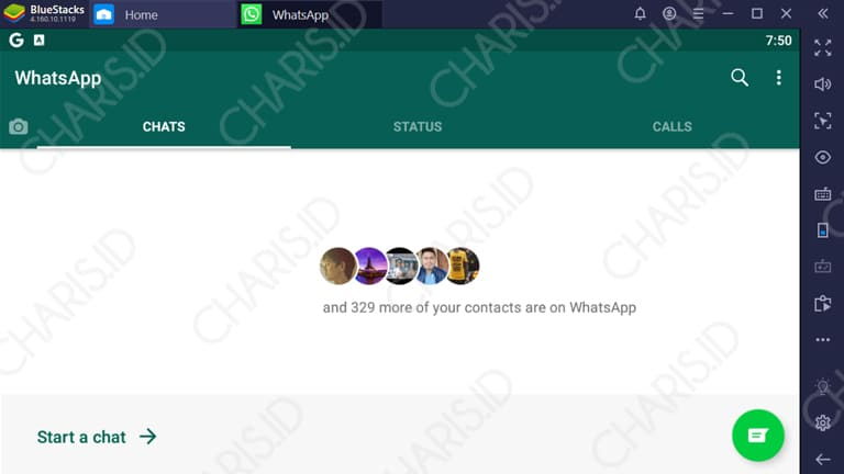 cara video call di whatsapp laptop
