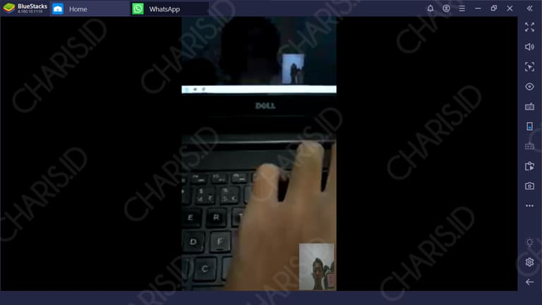 video call whatsapp di laptop