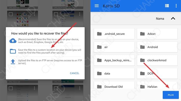 cara mengembalikan file yang sudah lama terhapus di android