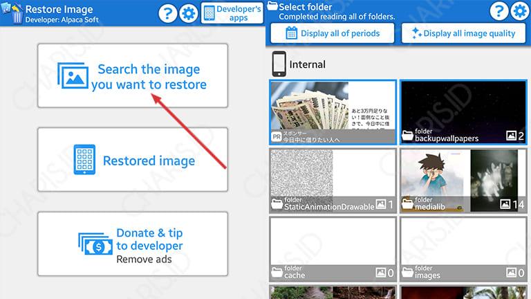 cara mengembalikan foto yang sudah dihapus