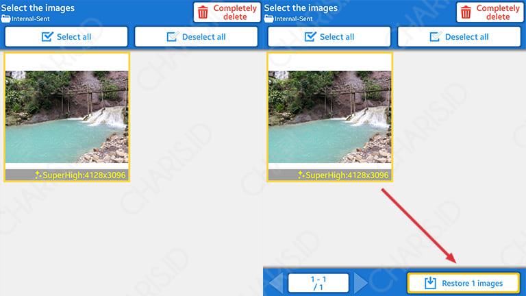 cara mengembalikan foto yang terhapus di galeri