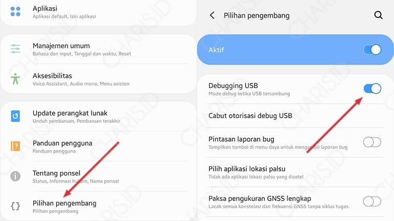 cara menghapus aplikasi bawaan android dengan pc