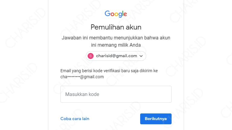 cara mengatasi lupa password gmail