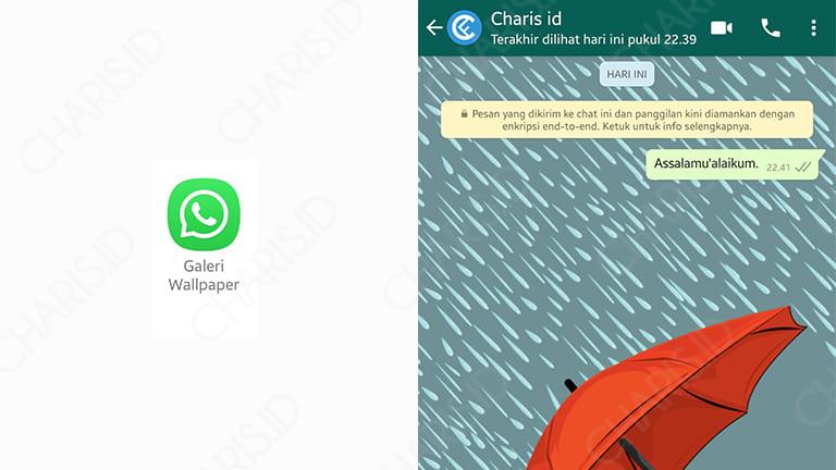 cara mengganti background depan whatsapp