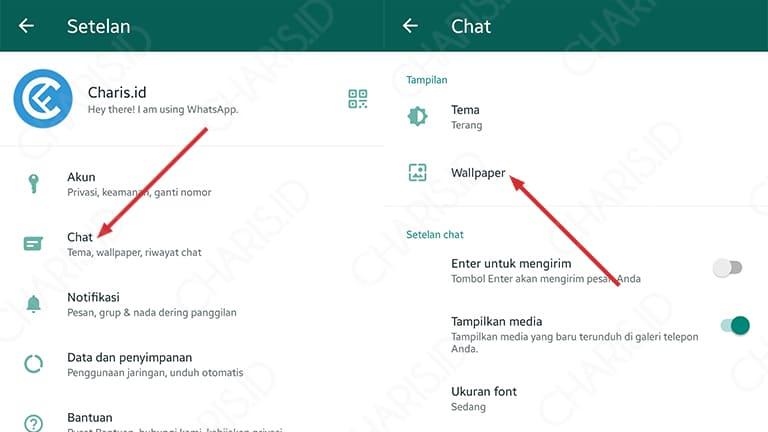 cara mengganti background layar utama whatsapp