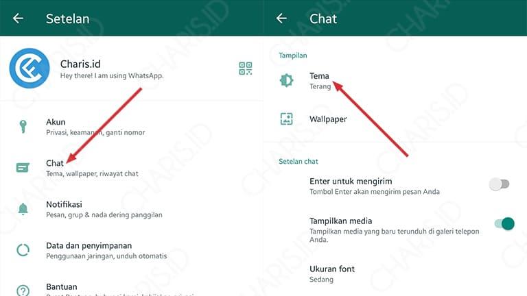 cara mengganti tema whatsapp dengan mudah