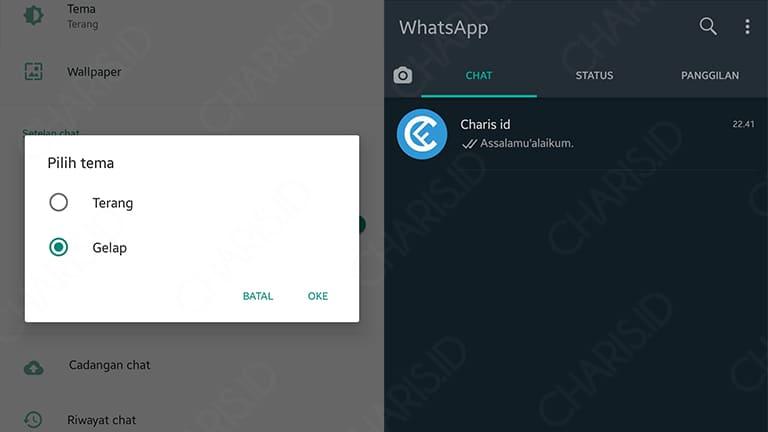 cara mengganti tema whatsapp di hp vivo