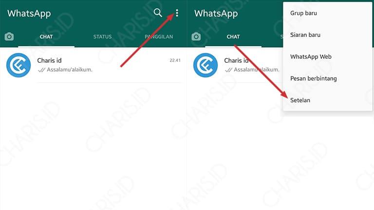 cara mengganti tema whatsapp plus dengan foto sendiri