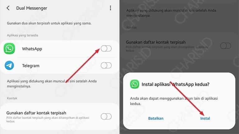 cara menggunakan 2 akun whatsapp dalam 1 hp