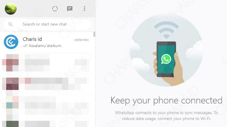 cara menggunakan aplikasi whatsapp di laptop