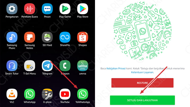 cara menggunakan whatsapp 2 nomor